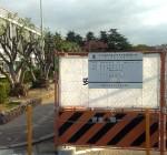 尼崎市役所駐車場 電気自動車急速充電器設置工事中