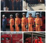 7月12日 尼崎市消防隊員5名 広島県に向かう