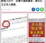 2021年4月7日 兵庫県の新型コロナウイルス感染者数が過去最多に